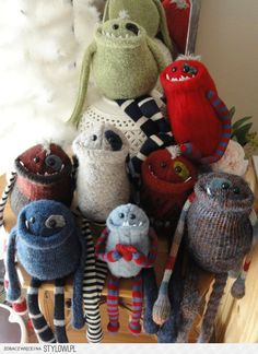 .cute monsters ¤ would be cute gifts to give every year to a special little boy in your life.