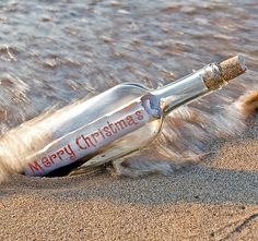 Christmas in a bottle, This Christmas I want to do this and put scripture in with a message of hope and love! (RM)