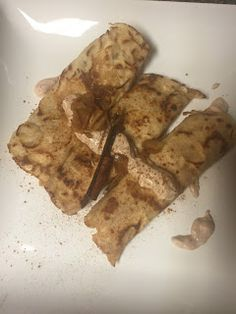 Pumpkin Beer Crepes with Apple Pie Filling! OMG delicious!