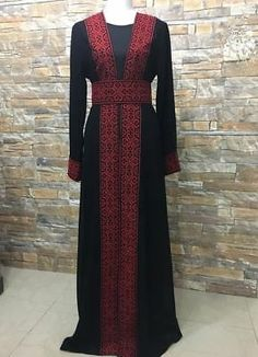 Abaya Thobe Thob Embroidered NEW Palestinian Traditional Arabic Dress Vest Afghan Clothes, Afghan Dresses, Muslim Fashion, Hijab Fashion, Fashion Dresses, Mode Abaya, Mode Hijab, Arabic Dress, Dress With Cardigan