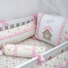df08415acf Kit de Berço Passarinhos Cobertores Bebe