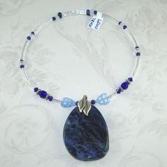 Blue Sodalite Memory Wire Necklace/Choker