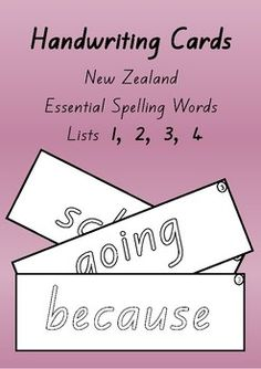 New Zealand Essential Spelling Words (Lists Write and wipe cards Spelling And Handwriting, Spelling Words List, Teaching Handwriting, Word Study, Word Work, School Resources, Classroom Resources, Ministry Of Education, Spelling Activities