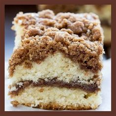 Whip up this easy recipe for Cinnamon Crumb Coffee Cake that is so light and buttery, it& perfect for breakfast! Cinnamon Crumb Coffee will be a hit. Cinnamon Cake Recipes, Easy Cake Recipes, Baking Recipes, Dessert Recipes, Easy Coffee Cake Recipe, Easy Crumb Cake Recipe, Coffecake Recipes, Bisquick Coffee Cake Recipe, Coffee Cake Recipe No Sour Cream