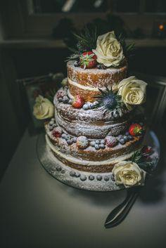 Cake by http://www.frenchmade.co.uk #weddingcake #nakedcake #rustic #wedding