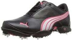 Look and feel your very best on the golf course with these stylish womens jigg leather golf shoes by Puma