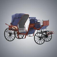 vintage horse carriage 3d model