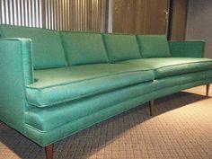 Vtg Dux Selig Baughman Knoll McCobb Danish Modern Era Midcentury Curved Sofa | eBay