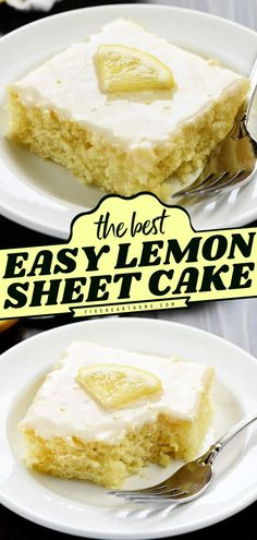 This from-scratch lemon recipe is one of the BEST! Super moist and topped with a tangy glaze, this homemade Texas sheet cake is always a hit. Save this summer recipe for an easy 4th of July dessert… Lemon Recipes Easy, Lime Recipes, Easy Delicious Recipes, Best Dessert Recipes, Yummy Food, Tasty, Sheet Cake Recipes, Cake Recipes From Scratch, Frosting Recipes