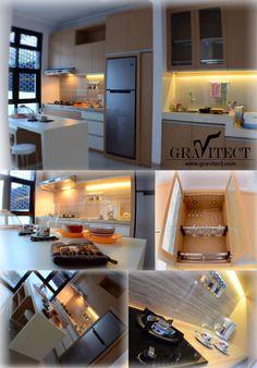 Kitchen Interior by Gravitect Indonesia