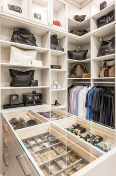 From drawer dividers to tie racks, shoe storage systems to hampers, our array of customizations work together to meet the most unique organization needs. Jewelry Drawer, Jewelry Storage, Shoe Storage, Storage Ideas, Shoe Rack With Shelf, Closet Island, Shelf Dividers, Tie Rack, California Closets