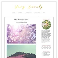 Very Lovely Wordpress Blog Theme by Pounce Design on @creativemarket