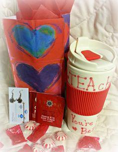 DIY tea themed teacher gift for Valentine's Day
