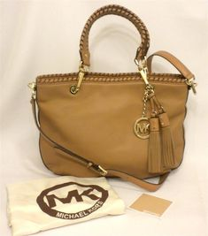 fec379e98131 New Michael Kors Bennet Tan Brown Leather Med WhipStitch Handbag Tote  30H1GBTT2L  MichaelKors  TotesShoppers