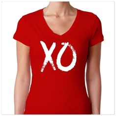 🆕 Salt Lake Clothing XO v-neck top Salt Lake Clothing red XO v-neck tee. Size M. (Fits like a S/M). See measurements above for sizing. Brand new. Salt Lake Clothing Tops Tees - Short Sleeve