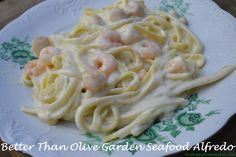 Best alfrado sauce ever!!!    'Better Than Olive Garden' Seafood Alfredo - Mrs Happy Homemaker