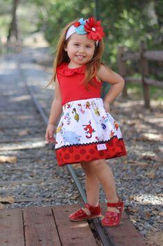 Skirt made with authorized Robert Kaufman fabric by wickedcutekidz