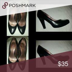 Nine & Co. Black pumps Beautiful leather pumps Nine West Shoes Heels