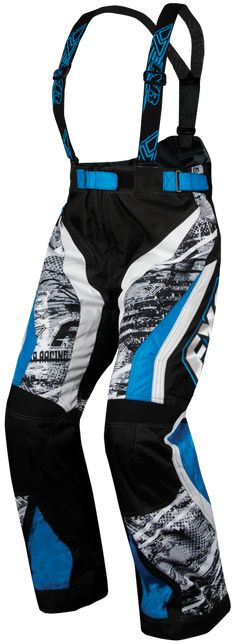 FXR Racing - Snowmobile Gear - Women's X-System Pant - Grey Warp/Cyan
