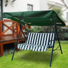 Heavy Duty Green Polyester Feet Inch Outdoor Patio Swing Canopy Replacement Top Cover UV Block Water Resistant for Porch Lawn Seat Garden Furniture * Visit the image link more details. (This is an affiliate link) Porch Swing With Canopy, Outdoor Patio Swing, Outdoor Rocking Chairs, Discount Patio Furniture, Cheap Patio Furniture, Garden Furniture, Swing Canopy Replacement, Indoor Grow Lights, Garden Canopy