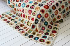 Aspiration for what my granny rug will look like when finished...