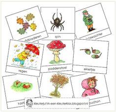 Kleuterklas: Activiteiten met woordkaarten bij het thema 'herfst' (met tekeningen van Dagmar Stam)