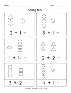 15++ Addition to 5 worksheets kindergarten Top