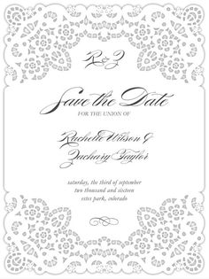 Laced Together Save the Dates