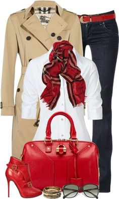 OUTIFT IDEAS FOR WOMAN - LOOK CON ACCESSORI ROSSI  RED SHOES