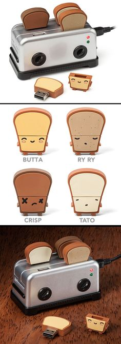 Who doesn't love toast? USB Toaster Hub and Thumbdrives! - www.MyWonderList.com