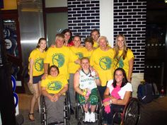 Shelley Chaplin (BS '10 AHS) - Australia Wheelchair Basketball - with fans after winning the silver medal
