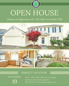OPEN HOUSE This morning in the Sunrise community of South Hill! Swing on by between 11 am and 1 pm and check out this wonderful home with new floors and paint throughout. Don't miss the spacious backyard with a peek-a-boo view of Mt. Rainier! Just look for the Bobby Brown & Associates signs right of Sunrise Parkway. #openhouse #homepreview #Puyallup #SouthHill  #homebuyers #KellerWilliams #BobbyBrownAndAssociates #realestate #Realtor