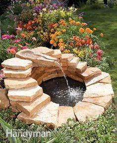 DIY Garden Fountain : DIY Build A Concrete Fountain Fountain Ideas, Fountain  Garden, Garden