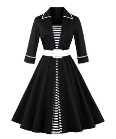 Make a retro-chic statement in this pick featuring a tapered skirt and classic details. Size note: This item is from a European brand. Please refer to the size chart to ensure best fit. Shipping note: This item is shipping internationally. Allow extra time for its journey to you.