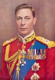 HM King George VI (1895-1952).  Second son of George V and brother of Edward VIII.