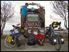 end of the world ushuaia sign. I wish I could do this one day. It settle for driving it.