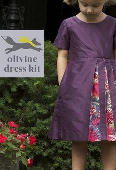 Clever Charlotte's Olivine Dress- love the pintucks and the peekaboo pleats.