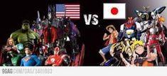 Anime Vs Cartoon