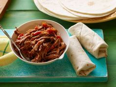 Recipe of the Day: Marcela Valladolid's Warm Picnic Burritos Outdoor eating calls for an exciting alternative that's just as easy to make: zesty on-the-go burritos wrapped up with shredded beef marinated in chile-lime sauce.