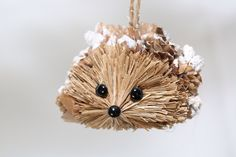 Natural Handmade Christmas Hedgehog Ornament by NaturalCraftOnline on Etsy https://www.etsy.com/listing/210634284/natural-handmade-christmas-hedgehog