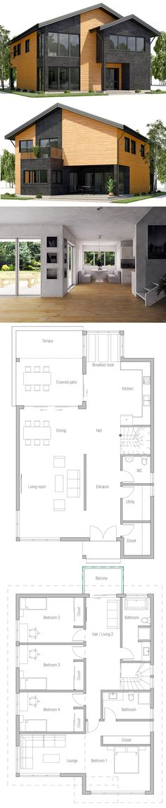 House Plan Home Plan, House Plans, Floor Plans House Plan Home Plan, House Plans, Floor Plans Craftsman House Plans, Modern House Plans, Small House Plans, Modern House Design, House Floor Plans, Modern Craftsman, Layouts Casa, House Layouts, Beautiful House Plans