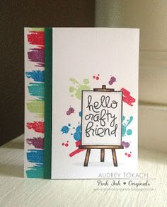 Card by SPARKS DT Audrey Tokach PS stamp sets: Positive Strokes Two, Shadows, I Heart Art
