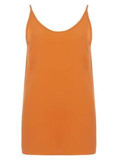 c957285957ce2 Petite orange split cami top Cami Tops
