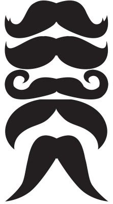 Bow tie/mustache/glasses template for onesies  (not printed yet)
