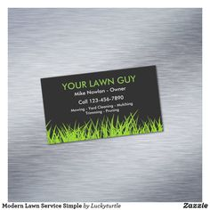 Lawn Mowing Business, Lawn Care Business Cards, Cleaning Business Cards, Simple Business Cards, Professional Business Cards, Magnetic Business Cards, Lawn Service, Referral Cards, Standard Business Card Size