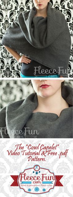 Cowl Capelet: Free Pattern and tutorial