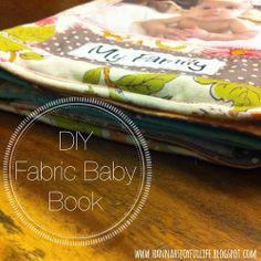 Joyful Life: A Fabric Baby Book! #diy #crafts #fabric #album #babybook