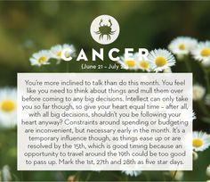 September horoscope 2013: Cancer