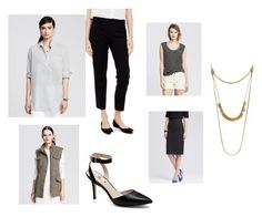 look by stylebyali on Polyvore featuring Banana Republic, Vince Camuto and Madewell