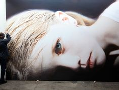 OIL and ACRYLIC on CANVAS.  HOLY CRAP!!!!!! I'm beyond words. Artist: Gottfried Helnwein Title: Helnwein and Head of a Child 14 (Anna) 2012